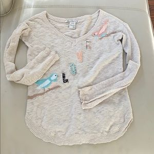 3x$20 American rag patch love birds sweater xs